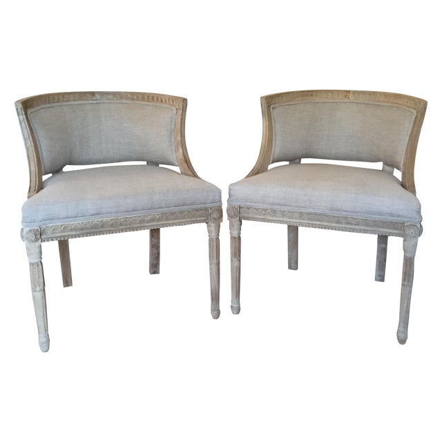 Swedish Occasional Chairs - Pair - Image 1 of 6