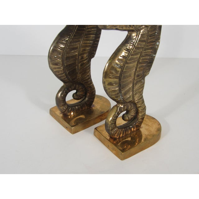 Image of Brass Seahorse Bookends