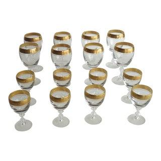 Gold Embossed Goblets - Set of 16