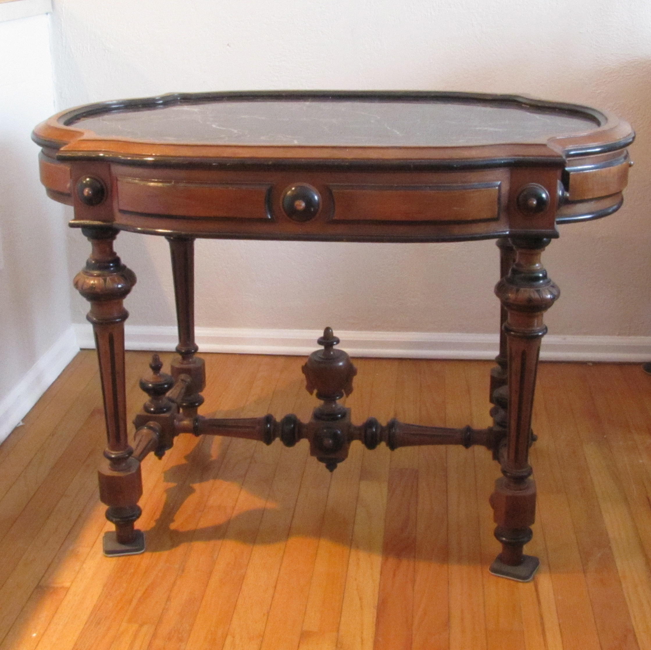 Antique Marble Top Console Table   Image 2 Of 6