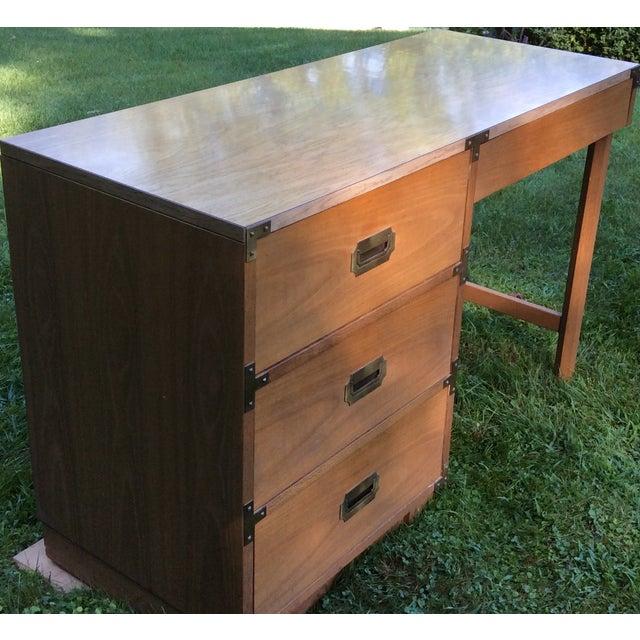 """1960's Drexel """"Campaigner"""" Desk - Image 4 of 8"""