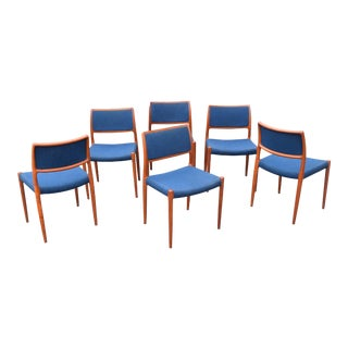 Vintage Moller Danish Modern Teak Chairs - Set of 6