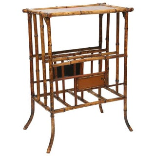 English 19th-Century Bamboo Magazine Rack