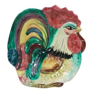 Italian Ceramic Rooster Dish