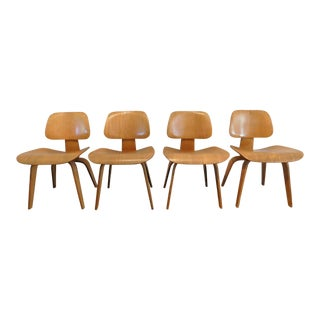Early Eames for Herman Miller DCW Dining Chairs- Set of 4