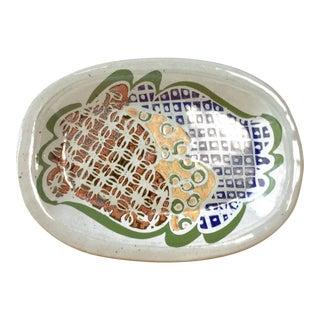 Abstract Pattern Glazed Pottery Platter