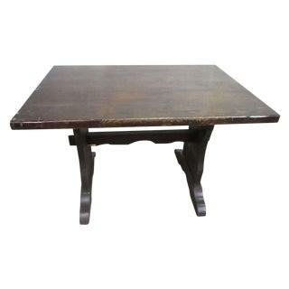 Dark Wood Trestle Table