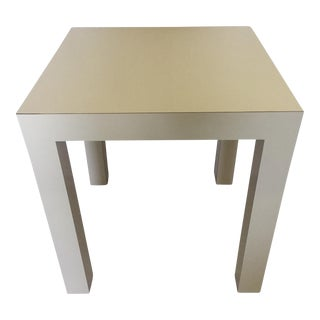 1970's White Square Parsons Table
