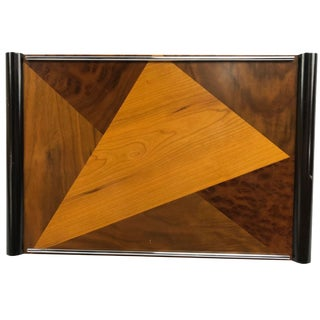 Global Views Art Deco Veneered Inlaid Wood Serving Tray