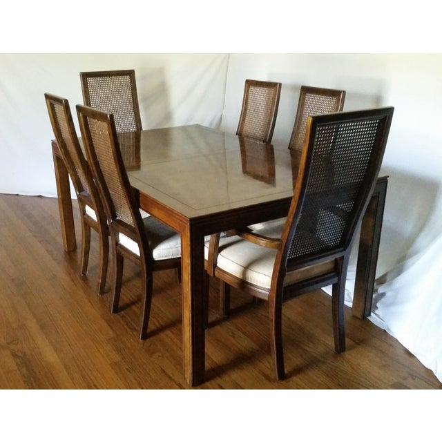 Vintage Henredon Campaign Dining Set | Chairish