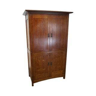 Stickley Mission Oak TV Armoire Chifferobe Cabinet