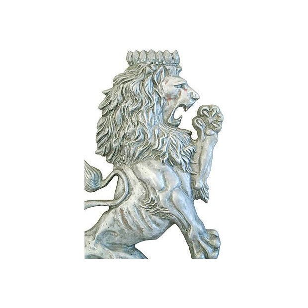 Mid-Century Architectural Lion Plaque - Image 2 of 7