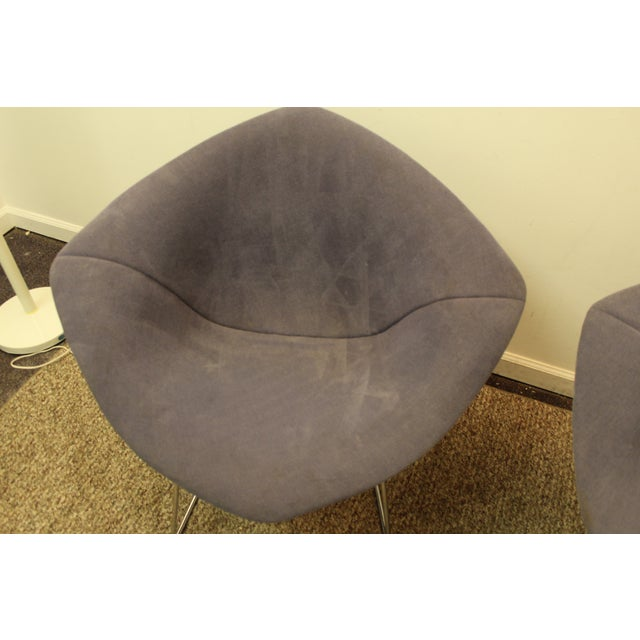 Bertoia Mid-Century Blue Diamond Chairs - Pair - Image 8 of 11
