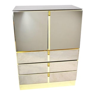 Bronze Mirrored Bar Cabinet by Ello