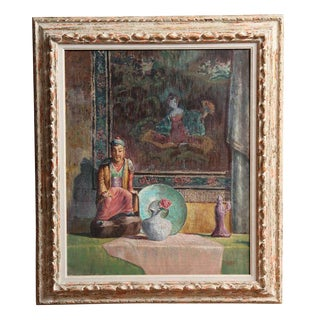 Chinese Theme Decorative Oil on Canvas