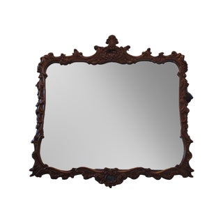 Antique Carved Wood Rococo Style Mirror