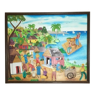 Mid-Century Haitian Painting by Raymond Surpris