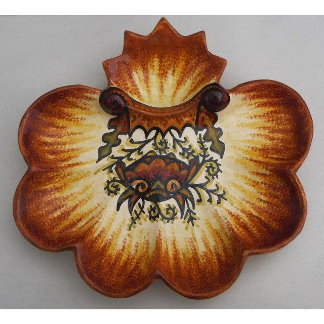 Image of Vintage Majolica Quimper Oyster Plate