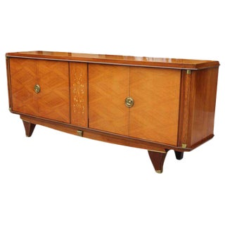 Stunning French Art Deco Palisander (Brazilian Rosewood) Sideboard / Buffet With Mother-of-Pearl inlay By Jules Leleu Circa 1940s