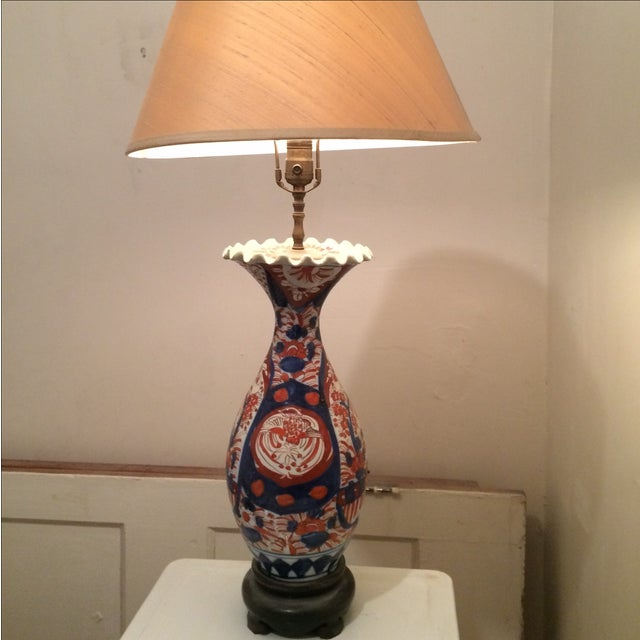 Antique Chinese Red & Blue Porcelain Table Lamp - Image 11 of 11