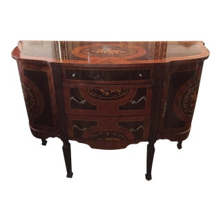Wooden Inlaid Neoclassical Sideboard