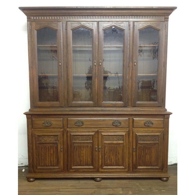 Ethan Allen Breakfront China Cabinet - Image 2 of 11