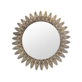 Brass Work Sun Mirror