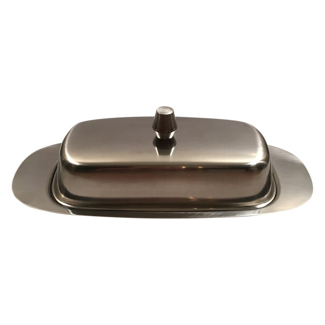 Mid-Century Modern Oneida Butter Dish - Never Used - Image 1 of 9