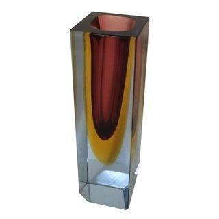 Italian Cased Glass Mandruzotto Vase