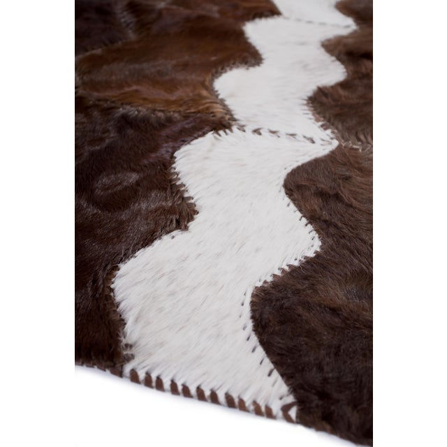 "Cowhide Patchwork Area Rug - 4' x 6'4"" - Image 3 of 8"