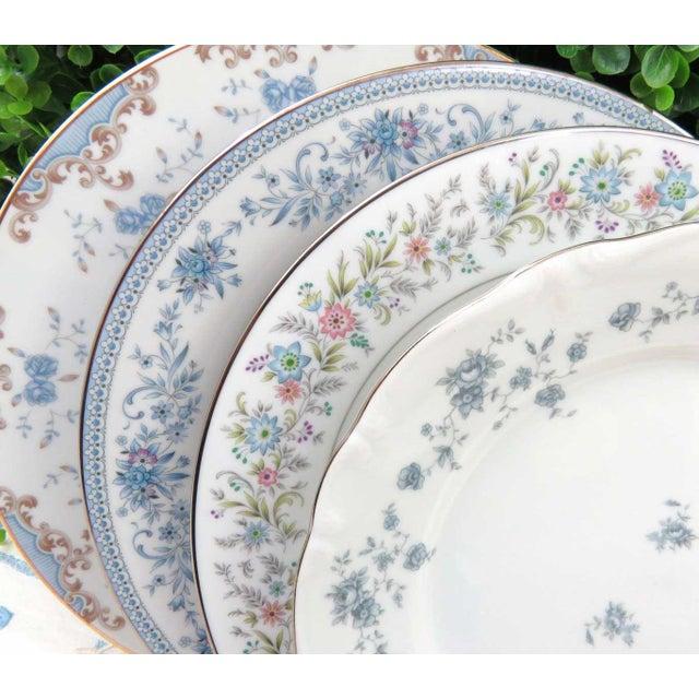 Vintage Mismatched Fine China Dinner Plates - Set of 4 - Image 2 of 8