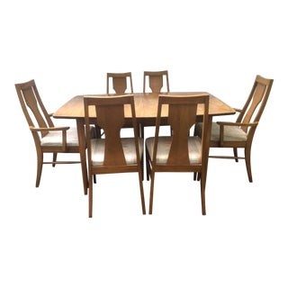 Kent Coffey Perspecta Series Dining Table & 6 Chairs Set