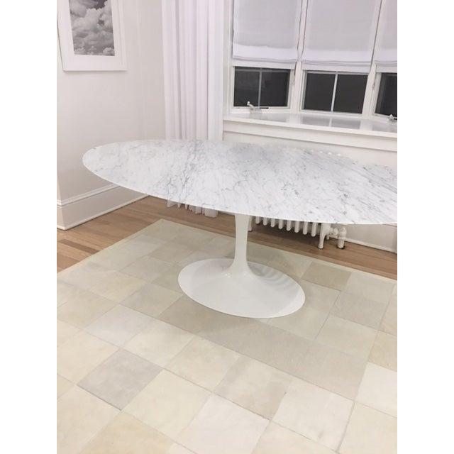 Knoll & Eero Saarinen White Dining Table - Image 3 of 11