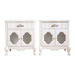 Vintage White Night Stands- A Pair