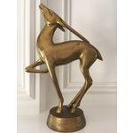 Image of Mid Century Brass Gazelle