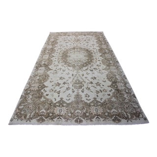 "Turkish Oushak Overdyed Rug - 5'2"" X 9'7"""