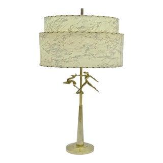 Art Deco Brass Figural Table Lamp