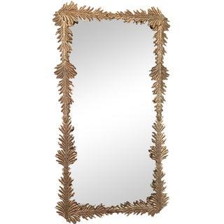Gold Leaf Mirror with Mercury Glass