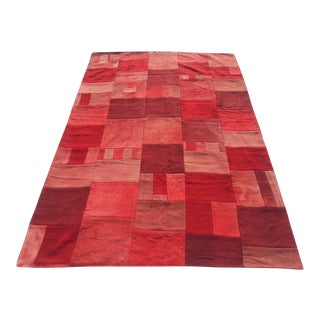 Red Patchwork Carpet