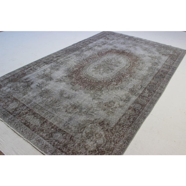 "Gray Turkish Overdyed Rug - 5'7"" X 9'5"" - Image 5 of 9"
