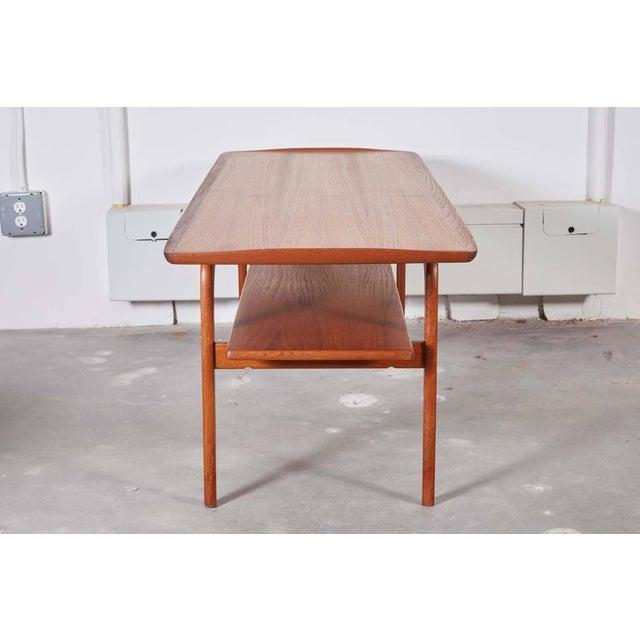 Danish Coffee Table with Shelf - Image 5 of 6