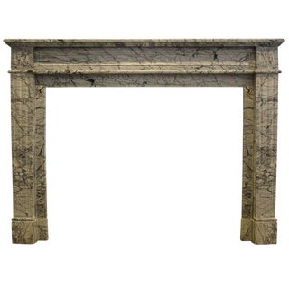 French Louis XVI Style Marble Mantel