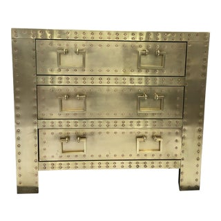 Sarreid Brass 3 Drawer Chest