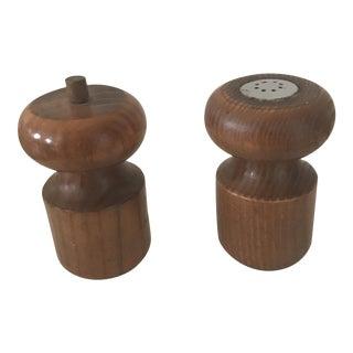 Italian Wood Salt & Pepper Shakers- A Pair