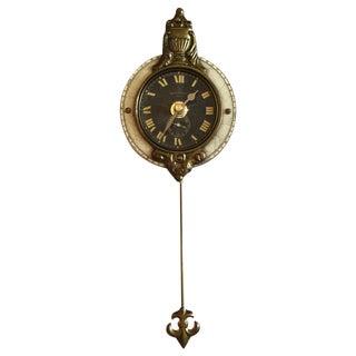 Ivory Petite Pendulum Wall Clock