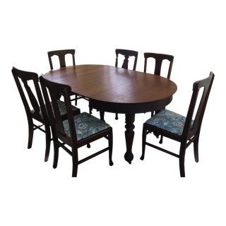 Antique Mission Style Oak Extension Dining Table Only - No Chairs Included.