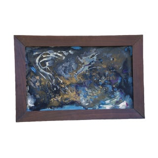 Mid-Century Modern Abstract Painting N. White I