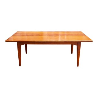 Mid-Century Cherry Wood Coffee Table