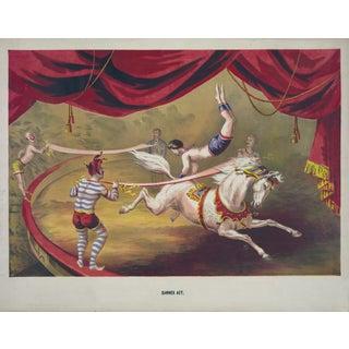 "19th-C. ""Banner Act"" Circus Print"