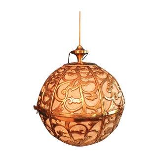 Brass Regency Karakusa Pendant Light